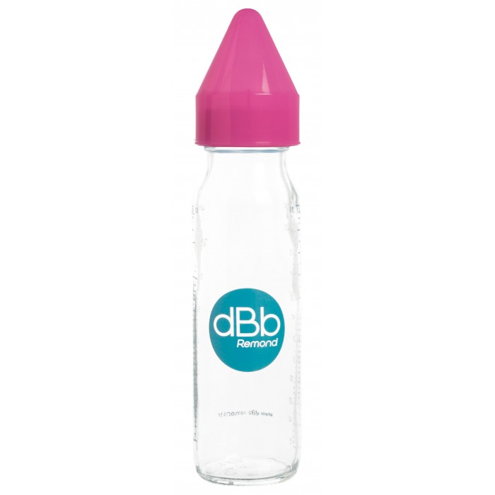 Biberon sticla 240 ml, Regul Air, tetina anticolici din silicon NN 0-4 luni (roz)