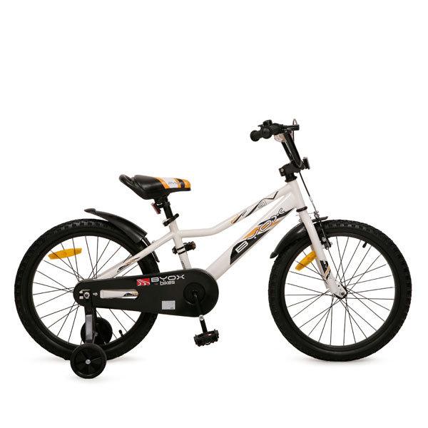 Bicicleta pentru copii cu roti ajutatoare Byox Prince White 20 inch imagine