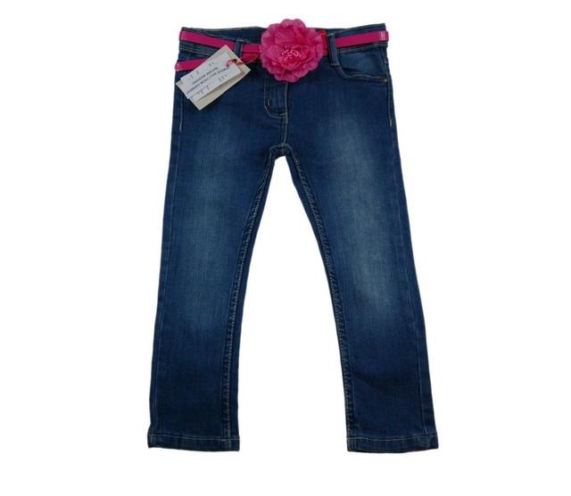 Blugi skinny Pink Flower (Masura 98 (2-3 ani))