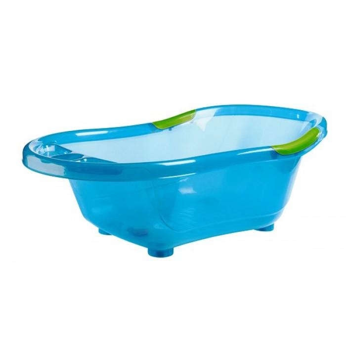 Cadita de baie, cu dop scurgere, baza si manere antiderapante (bleu)