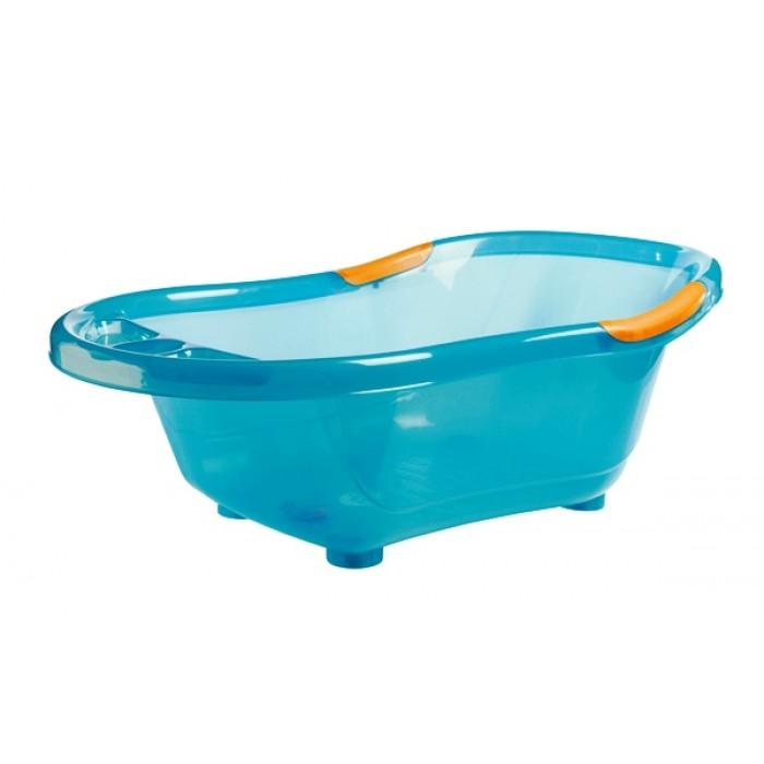 Cadita de baie, cu dop scurgere, baza si manere antiderapante (turcoaz)