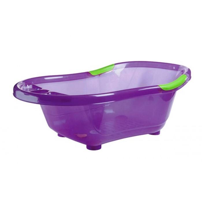 Cadita de baie, cu dop scurgere, baza si manere antiderapante (violet)
