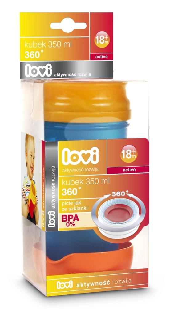 Canita Lovi 360 activ 350 ml Albastru