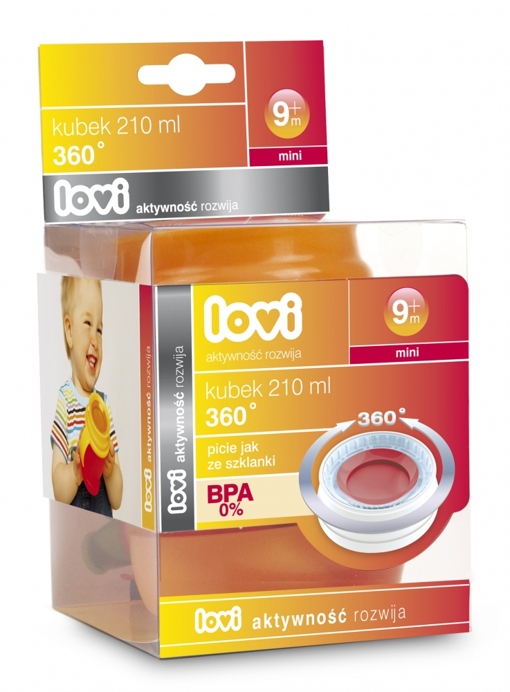 Canita Lovi 360 mini 210 ml Albastru