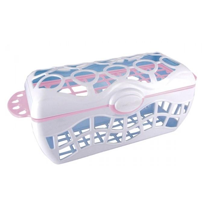 Cos accesorii hranire bebe pentru masina de spalat vase (roz)