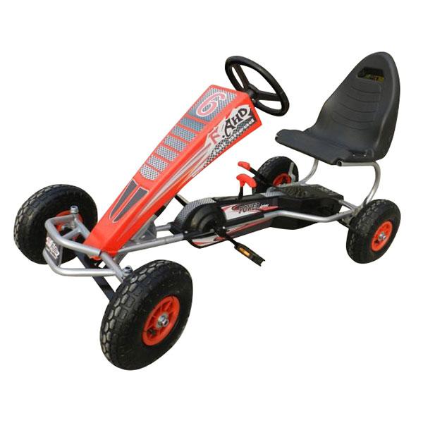 Kart cu pedale pentru copii Power Racer Rosu