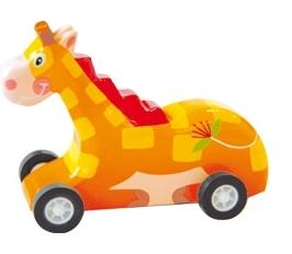 Masinuta din lemn - girafa
