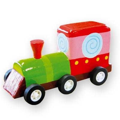 Masinuta din lemn - locomotiva
