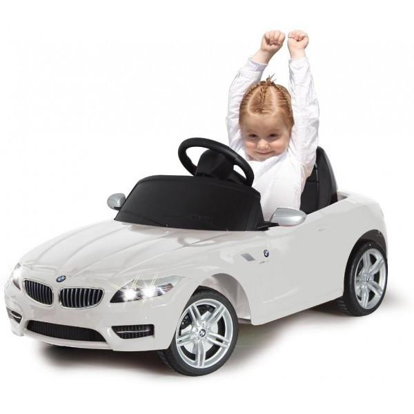 Masinuta electrica BMW Z4 alba 6V cu telecomanda 27 Mhz