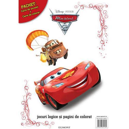 Pachet Carte de Povesti si Carte de Colorat Cars 2