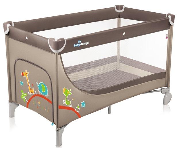 Patut pliabil Baby Design Simple Beige