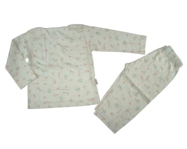 Pijama fetite Happy Toys culoare crem (Masura 98 (3 ani))