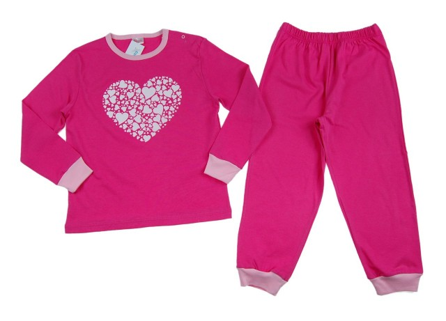 Pijamale fetite Hearts (Masura 92 (1.5-2 ani))