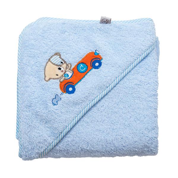 Prosop de baie pentru bebelus si mama albastru Clevamama