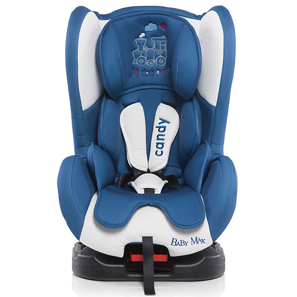 Scaun auto Baby Max Candy blue train 2015