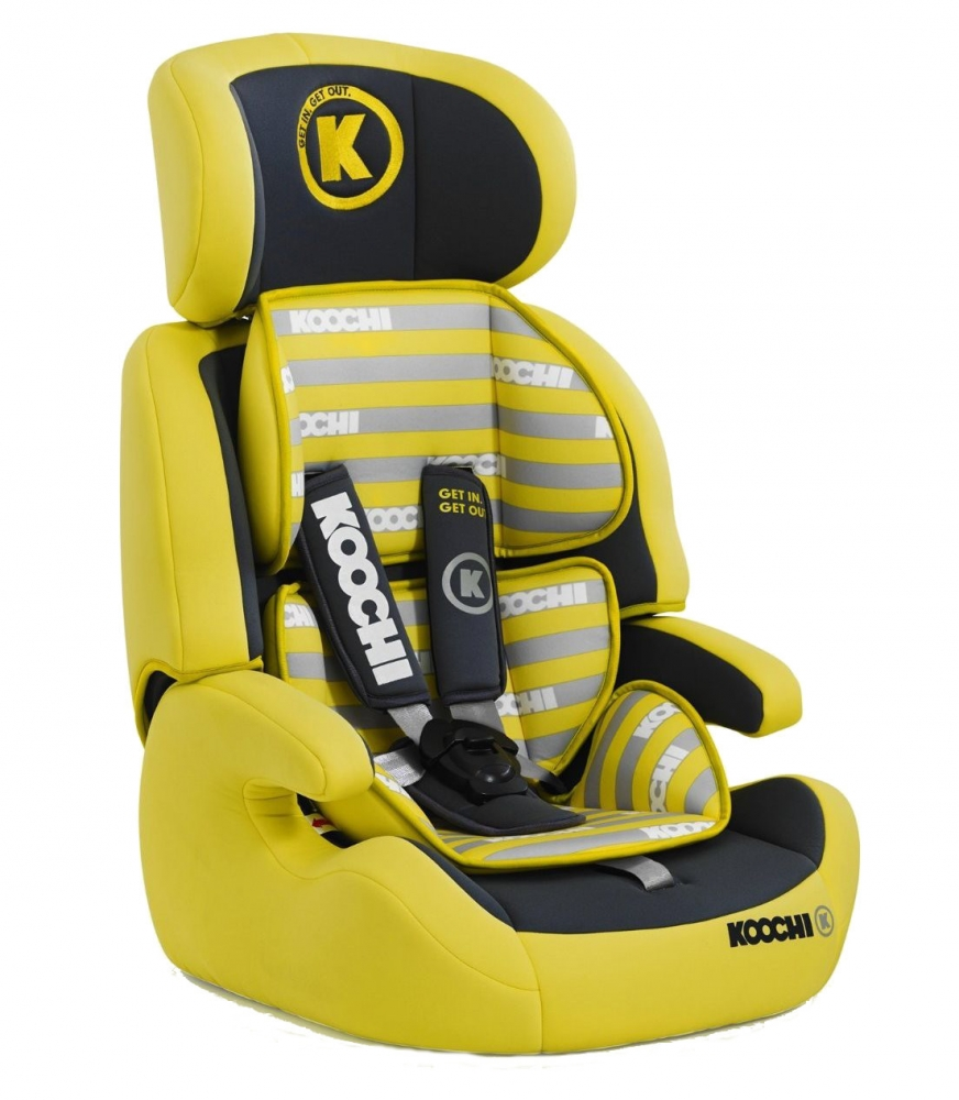 Scaun auto Koochi Motohero Primary Yellow
