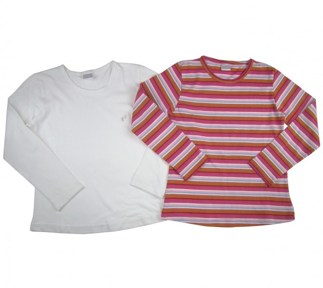 Set 2 bluze fete Steps material bumbac (Masura 116 (5-6 ani))