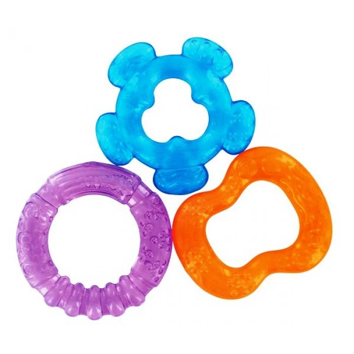 Set 3 inele gingivale refrigerante - culori asortate rosu, bleu, violet