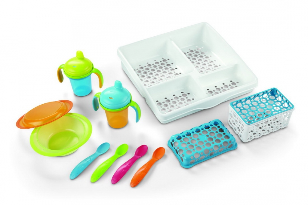 Set complet de hranire cu suport Fisher-Price