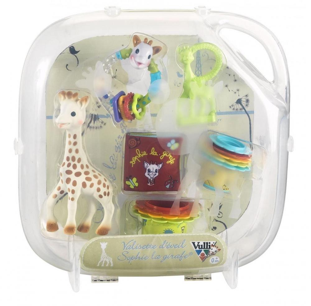 Set valiza cu jucarii de activitati Girafa Sophie