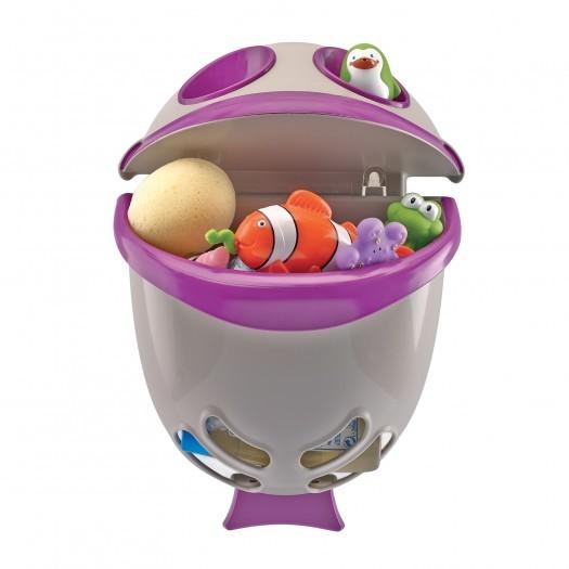 Suport pentru pastrarea jucariilor si a samponului Bubble Fish Purple