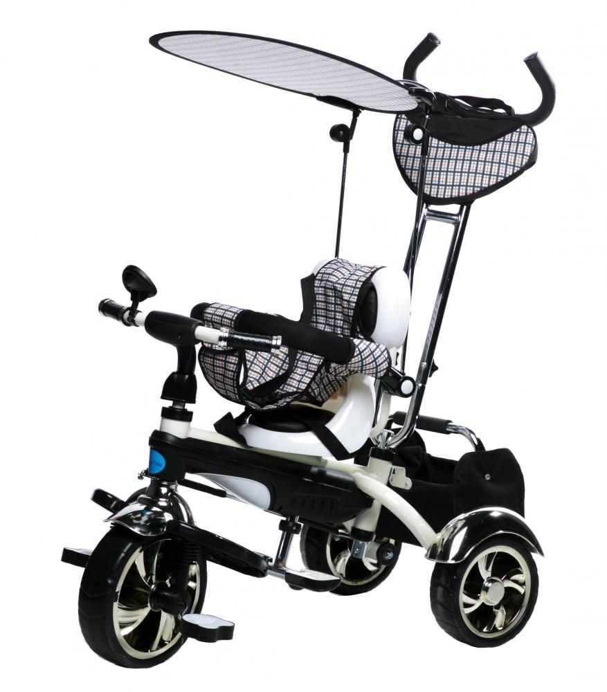 Tricicleta pentru copii multifunctionala KR01 Alba