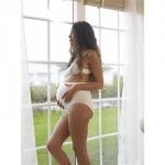 Chilot gravide cu centura integrata Crem