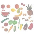 Fructe, legume si fructe uscate set de 36 figurine - Miniland