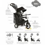 Tricicleta Smart Trike Chic 4 in 1 Black