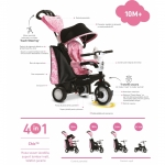 Tricicleta Smart Trike Chic 4 in 1 Pink