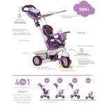 Tricicleta Smart Trike Dream 4 in 1 Purple