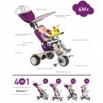 Tricicleta Smart Trike Recliner Stroller 4 in 1 Purple