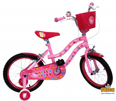Bicicleta copii cu roti ajutatoare Hello Kitty 16