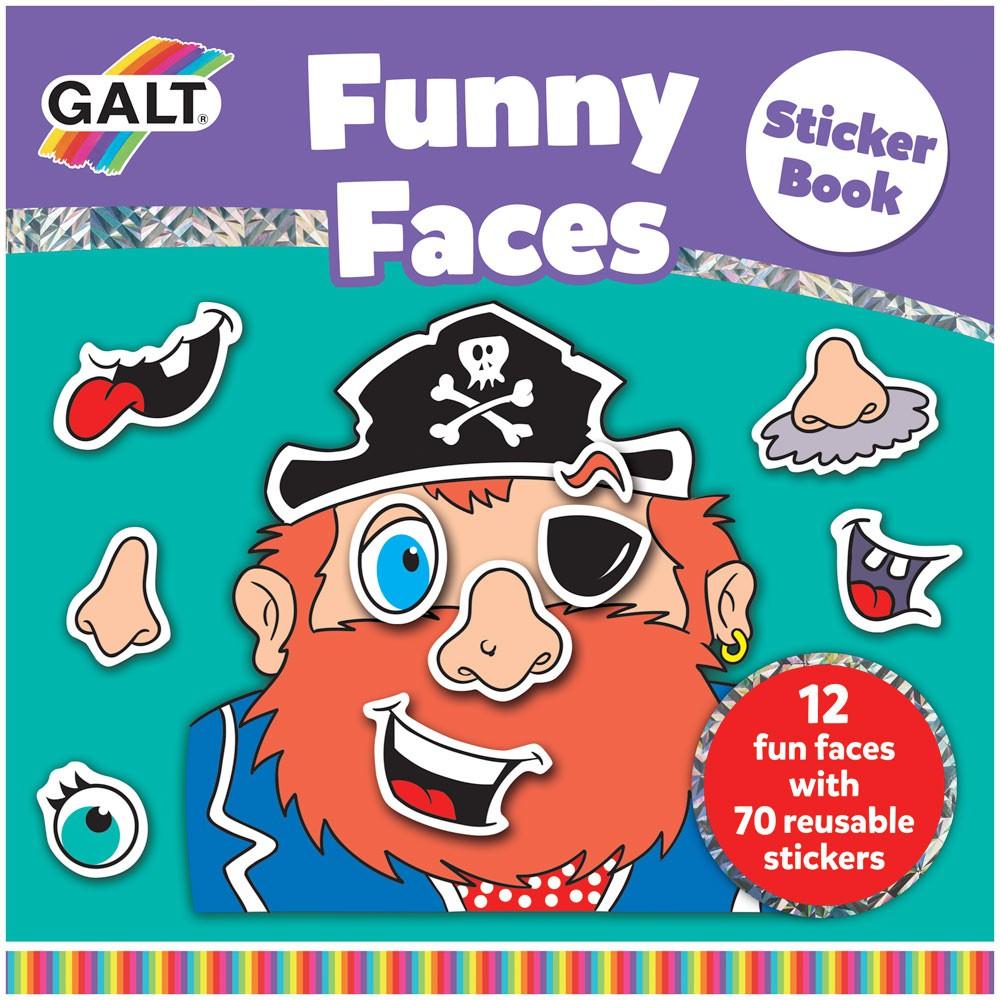Carte cu abtibilduri Funny Faces