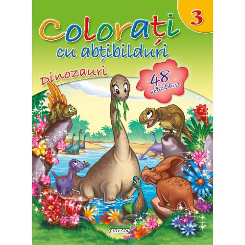 Colorati cu Abtibilduri, Nr.3 - Dinozauri