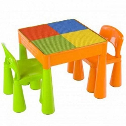 Masuta Mamut cu 2 scaunele VerdePortocaliu