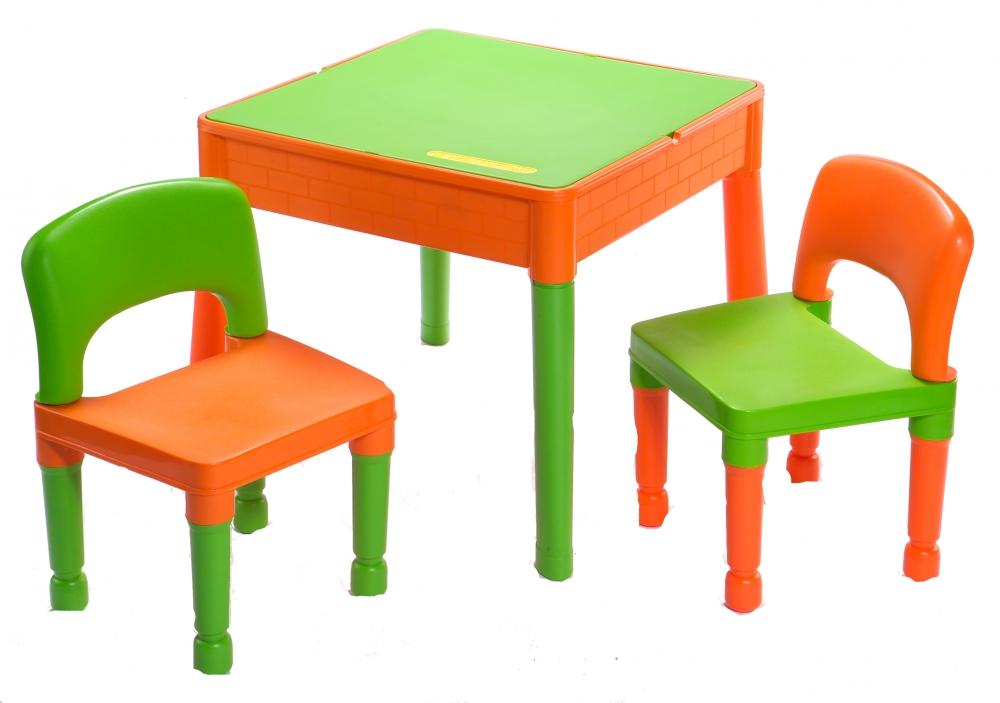 Masuta Tega Baby cu 2 scaunele VerdePortocaliu
