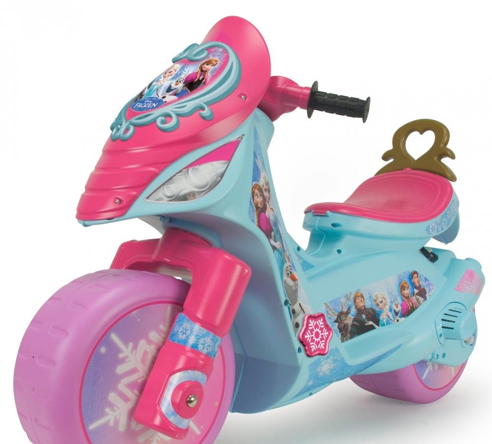Motocicleta electrica Injusa Disney Frozen cu roti ajutatoare
