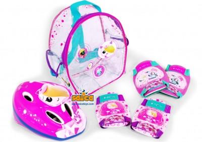 Set protectii copii bicicleta trotineta role Saica Clanners Girl