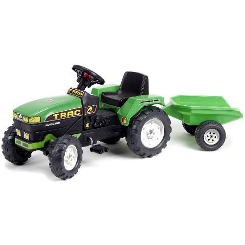 Tractor Farm Verde cu Remorca si Pedale