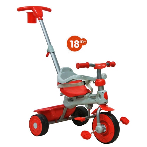 Tricicleta Baby Trike 4 in 1 Deluxe Red