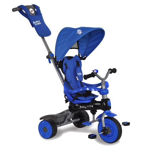 Tricicleta Baby Trike 4 in1 Hippo Blue