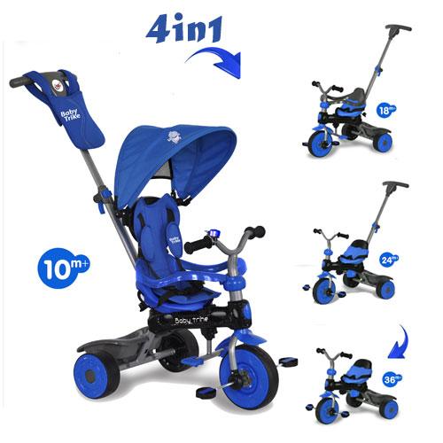 Tricicleta Baby Trike 4 in 1 Hippo Blue