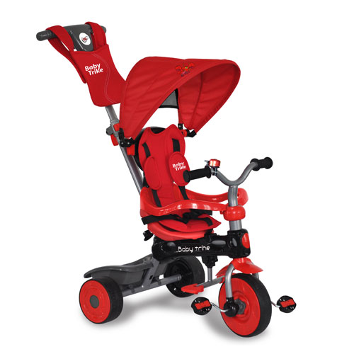 Tricicleta Baby Trike 4 in 1 Crab Red