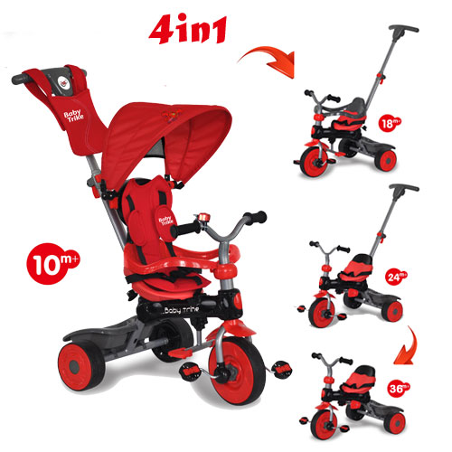 Tricicleta Baby Trike 4 in1 Crab Red