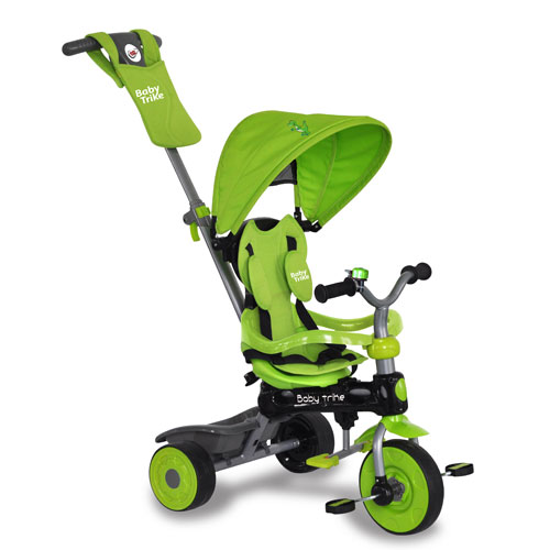Tricicleta Baby Trike 4 in 1 Dino Green