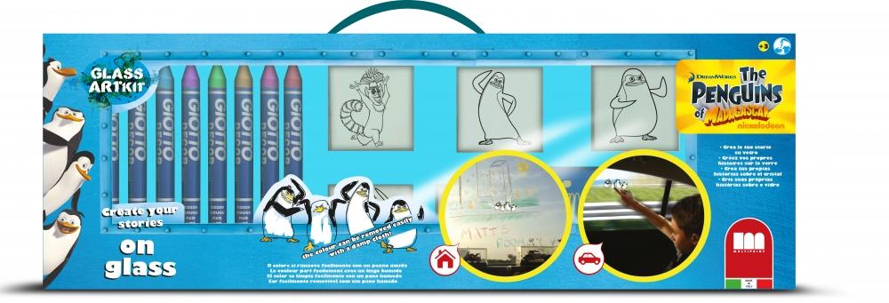Trusa creativitate pe sticla - Pinguinii din Madagascar