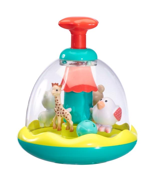 Girafa Sophie si prietenii in carusel