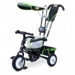 Tricicleta Toyz cu maner si roti din cauciuc Derby Verde