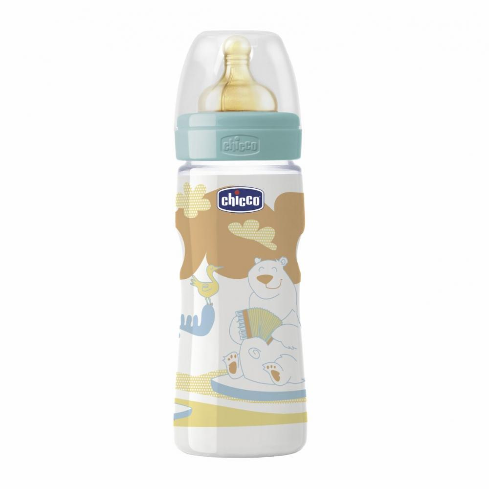 Biberon Chicco Well Being PP, roz, 150ml,T.c., flux normal, 0+, 0BPA